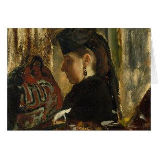 Edgar Degas - Mademoiselle Marie Dihau (1843-1935) Tarjeta