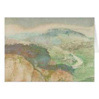 Edgar Degas - paisaje Tarjeta