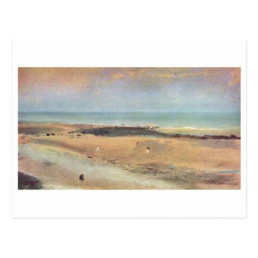 Edgar Degas - pastel de la marea baja 1869-70 de l Tarjetas Postales