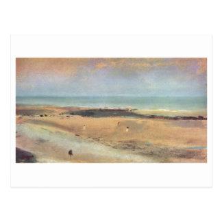 Edgar Degas - pastel de la marea baja 1869-70 de Postal