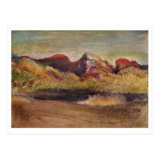 Edgar Degas - pastel del lago y de las montañas 18 Tarjetas Postales