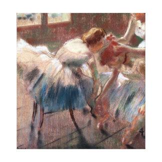 Edgar Degas tres bailarines que se preparan para Impresión En Lienzo