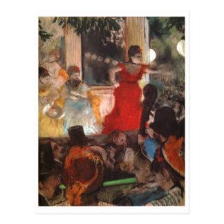 Edgar Degas - vestido rojo 1876-77 de la mujer del Tarjeta Postal