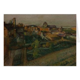 Edgar Degas - vista del Saint-Valery-sur-Somme Tarjeta