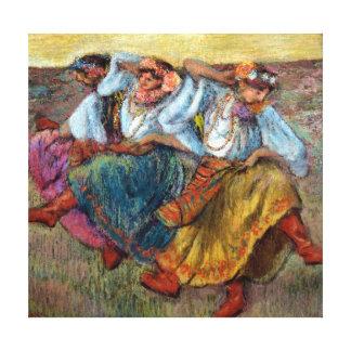 Edgardo desgasifica a los bailarines rusos impresión en lienzo