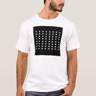 Edición blanco y negro de los puntos/del vintage camiseta