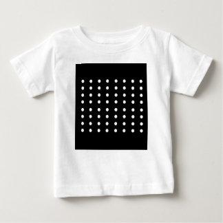 Edición blanco y negro de los puntos/del vintage camiseta de bebé