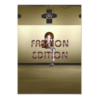 Edición de la moda de la CAMISETA Invitación 12,7 X 17,8 Cm