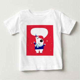 Edición de los diseñadores con el peluche ártico camiseta de bebé