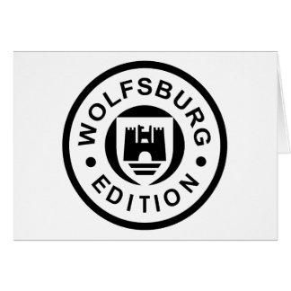 Edición de Wolfsburgo (negro) Tarjetón