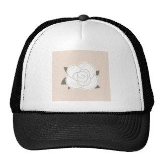 Edición del diseño con el vintage subió gorras