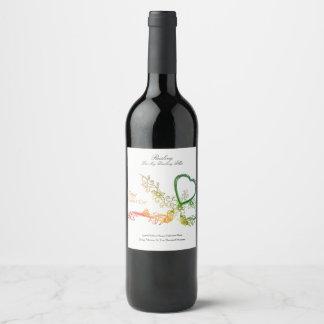 Edición feliz personalizada del el día de San Etiqueta Para Botella De Vino