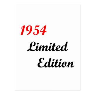 Edición limitada 1954 postal
