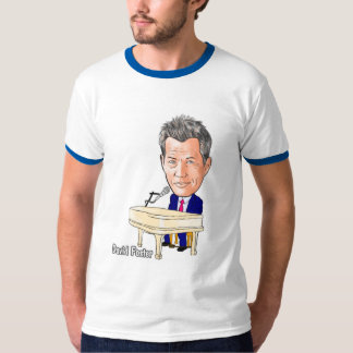 Edición limitada - caricatura de David Foster Camisetas