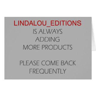 Ediciones de Lindalou Tarjeta De Felicitación