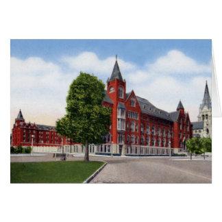 Edificio de la universidad de St. Louis Missouri Tarjeta