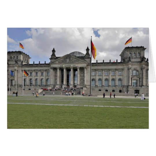 Edificio de Reichstag del alemán Tarjeta De Felicitación