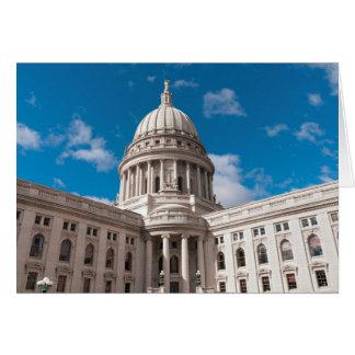 Edificio del capitolio del estado de Wisconsin Tarjeta