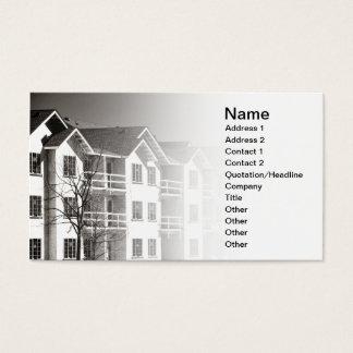 edificio del condominio bajo construcción tarjeta de negocios