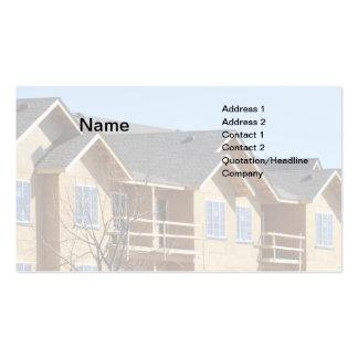 edificio del condominio bajo construcción plantilla de tarjeta personal
