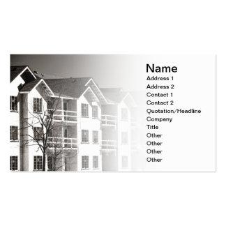 edificio del condominio bajo construcción tarjetas de visita