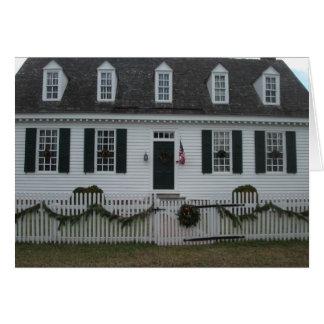 Edificio del siglo XVIII colonial de Williamsburg Tarjeta De Felicitación