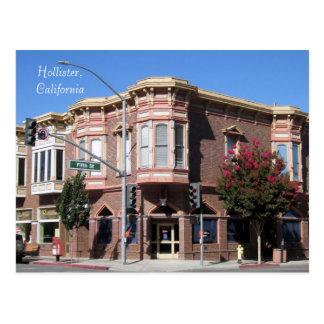 Edificio histórico de Hollister CA en 5to y San Be Tarjetas Postales