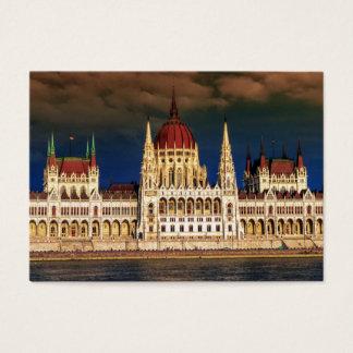 Edificio húngaro del parlamento en Budapest, Tarjeta De Negocios