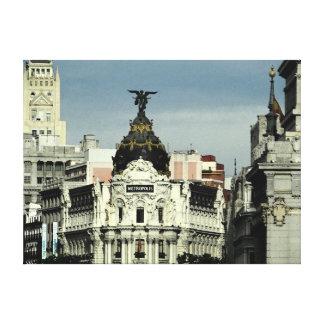 Edificio Metrópolis - Madrid España Impresiones En Lona Estiradas