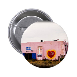 Edificio rosado del estuco del arte del sudoeste chapa redonda de 5 cm