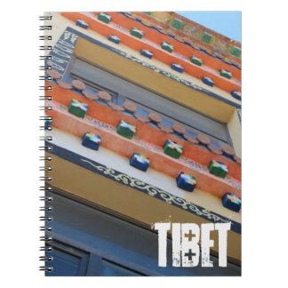 Edificio tradicional tibetano cuaderno