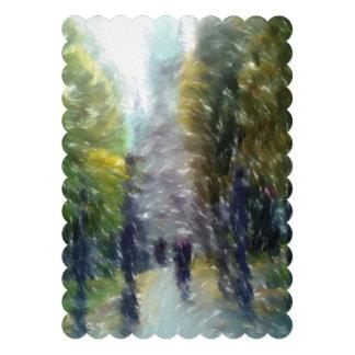 Edificio y árboles corregidos de la foto