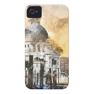 Edificios coloridos en Venecia Italia Funda Para iPhone 4 De Case-Mate