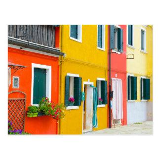 Edificios de Burano Italia Postal