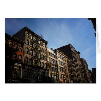 Edificios de Soho en The Sun, New York City Tarjeta De Felicitación