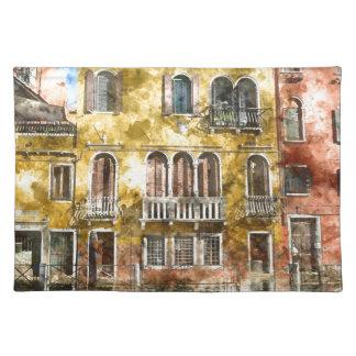 Edificios de Venecia Italia Salvamanteles