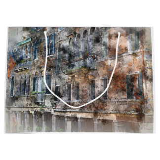 Edificios hermosos en Venecia Italia Bolsa De Regalo Grande
