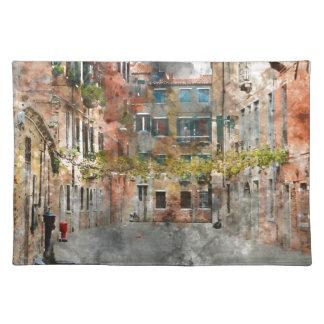 Edificios y canales coloridos de Venecia Italia Salvamanteles