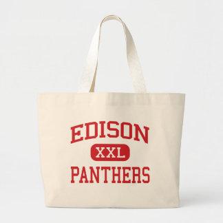 Edison - panteras - joven - Pekin Illinois Bolsa Tela Grande