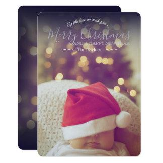 Editable clásico con la tarjeta de Navidad del