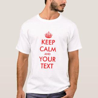 Editable guarde las camisetas tranquilas para los