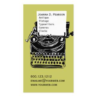 Editor Verde-Negro del escritor de la máquina de Tarjetas De Visita
