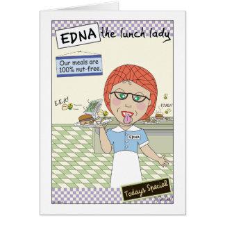 Edna la señora Cartoons del almuerzo Tarjeta De Felicitación
