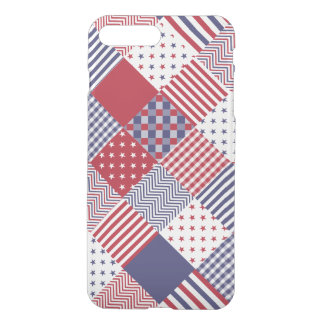 Edredón blanco de los E.E.U.U. y azul rojo Funda Para iPhone 8 Plus/7 Plus