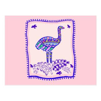 Edredón de la avestruz postal