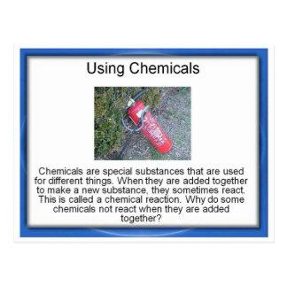 Educación, ciencia, usando las sustancias químicas tarjetas postales