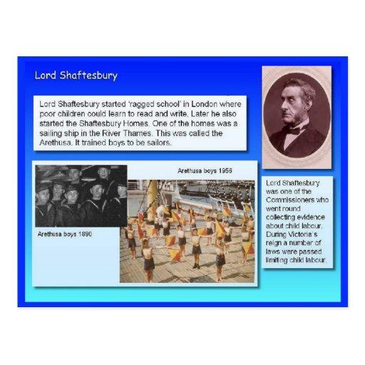 Educación, reformadores, señor Shaftesbury Postales