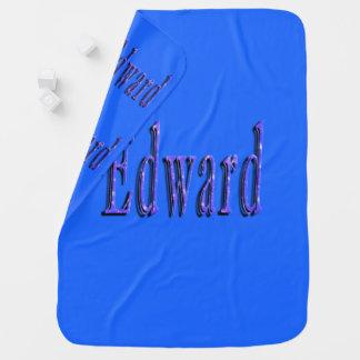 Edward, nombre, logotipo, manta azul de los bebés