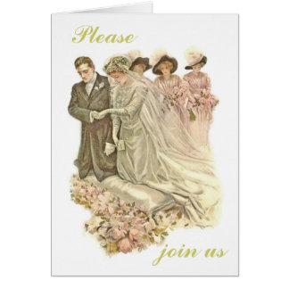 Edwardian, invitación de la invitación de boda del
