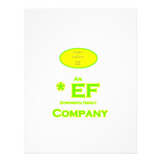 EF - compañía respetuosa del medio ambiente 2 Folleto 21,6 X 28 Cm